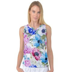 Watercolor Spring Flowers Women s Basketball Tank Top by TastefulDesigns