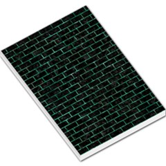 Brick1 Black Marble & Green Marble Large Memo Pads