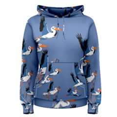 Abstract Pelicans Seascape Tropical Pop Art Women s Pullover Hoodie