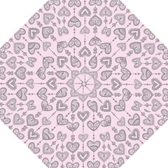 Sketches Ornamental Hearts Pattern Folding Umbrellas
