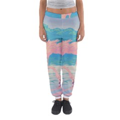 Two Pink Flamingos Pop Art Women s Jogger Sweatpants by WaltCurleeArt