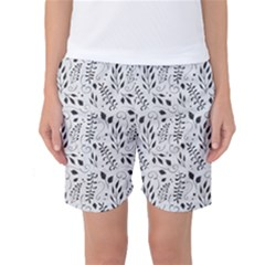 Hand Painted Floral Pattern Women s Basketball Shorts