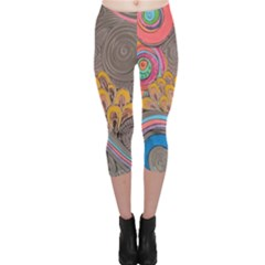 Rainbow Passion Capri Leggings  by SugaPlumsEmporium
