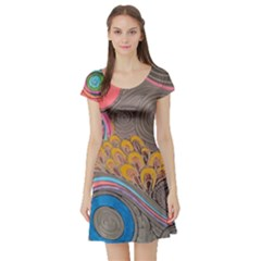 Rainbow Passion Short Sleeve Skater Dress by SugaPlumsEmporium