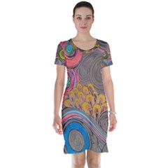 Rainbow Passion Short Sleeve Nightdress by SugaPlumsEmporium