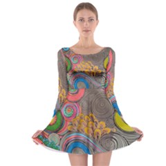 Rainbow Passion Long Sleeve Skater Dress by SugaPlumsEmporium