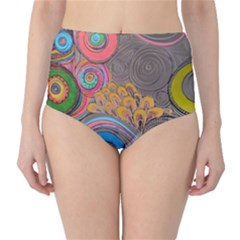 Rainbow Passion High Waist Bikini Bottoms by SugaPlumsEmporium