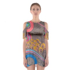 Rainbow Passion Cutout Shoulder Dress by SugaPlumsEmporium