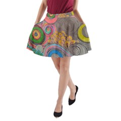 Rainbow Passion A Line Pocket Skirt by SugaPlumsEmporium