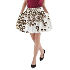 Bubbles! A Line Pocket Skirt by SugaPlumsEmporium