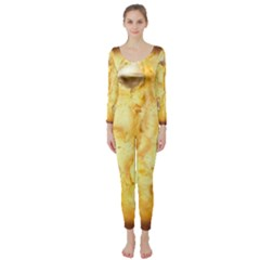 White Chocolate Chip Lemon Cookie Novelty Long Sleeve Catsuit