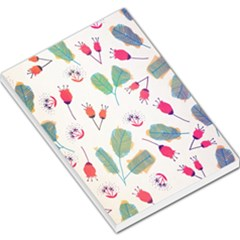 Hand Drawn Flowers Background Large Memo Pads by TastefulDesigns