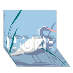 Egret Hope 3d Greeting Card (7x5)  by WaltCurleeArt