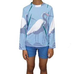 Egret Kid s Long Sleeve Swimwear