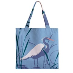 Egret Grocery Tote Bag by WaltCurleeArt