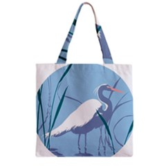 Egret Grocery Tote Bag