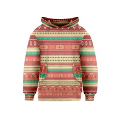 Hand Drawn Ethnic Shapes Pattern Kids  Pullover Hoodie
