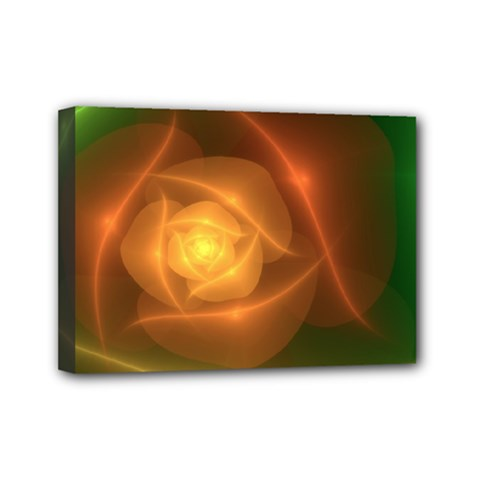 Orange Rose Mini Canvas 7  X 5  by Delasel