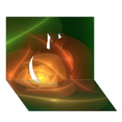 Orange Rose Apple 3d Greeting Card (7x5)  by Delasel