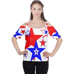The Patriot 2 Women s Cutout Shoulder Tee by SugaPlumsEmporium