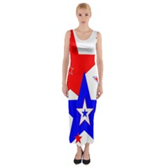 The Patriot 2 Fitted Maxi Dress by SugaPlumsEmporium