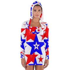 The Patriot 2 Women s Long Sleeve Hooded T Shirt by SugaPlumsEmporium