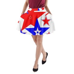 The Patriot 2 A Line Pocket Skirt by SugaPlumsEmporium