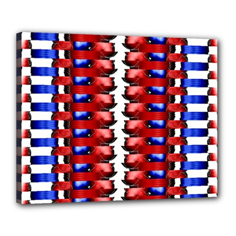The Patriotic Flag Canvas 20  X 16  by SugaPlumsEmporium