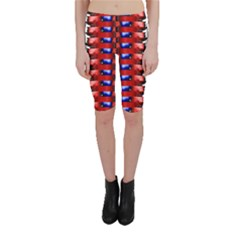 The Patriotic Flag Cropped Leggings  by SugaPlumsEmporium