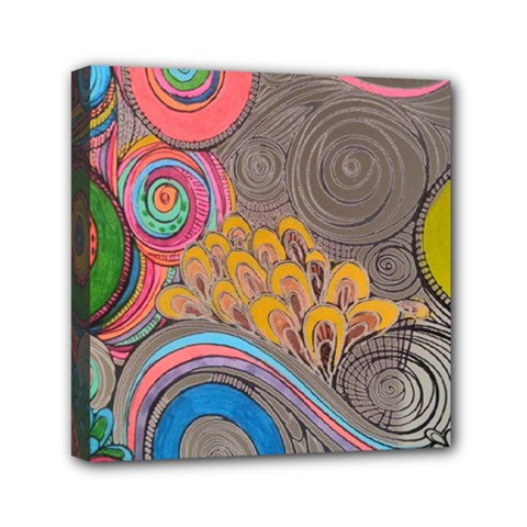 Rainbow Passion Mini Canvas 6  X 6  by SugaPlumsEmporium