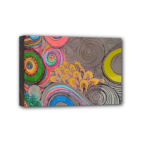 Rainbow Passion Mini Canvas 6  X 4  by SugaPlumsEmporium