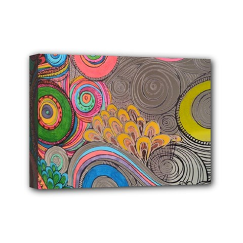 Rainbow Passion Mini Canvas 7  X 5  by SugaPlumsEmporium