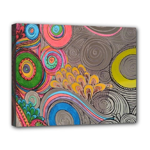 Rainbow Passion Canvas 14  X 11  by SugaPlumsEmporium