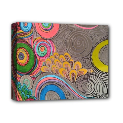 Rainbow Passion Deluxe Canvas 14  X 11  by SugaPlumsEmporium