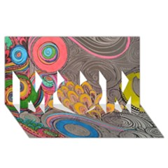 Rainbow Passion Mom 3d Greeting Card (8x4)