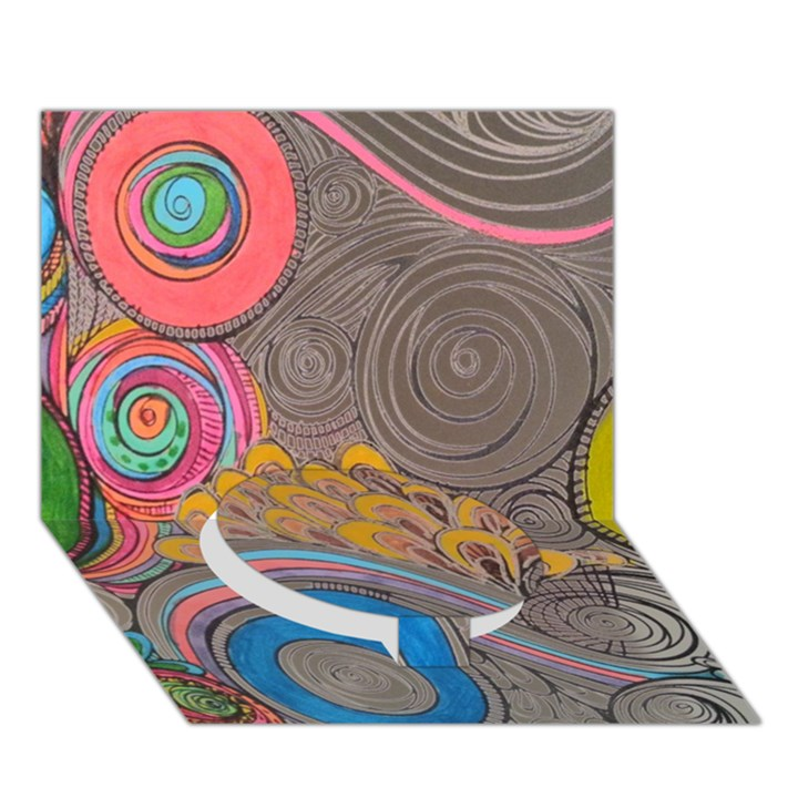 Rainbow Passion Circle Bottom 3D Greeting Card (7x5)