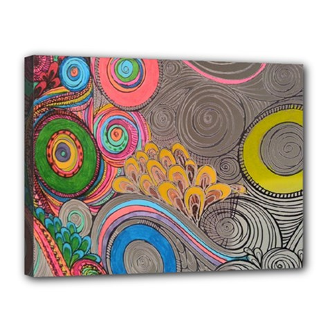 Rainbow Passion Canvas 16  X 12  by SugaPlumsEmporium