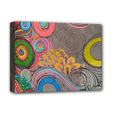 Rainbow Passion Deluxe Canvas 16  X 12   by SugaPlumsEmporium