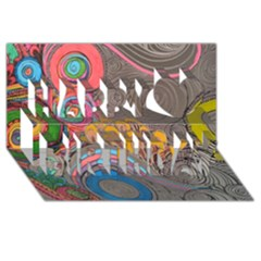 Rainbow Passion Happy Birthday 3d Greeting Card (8x4)  by SugaPlumsEmporium