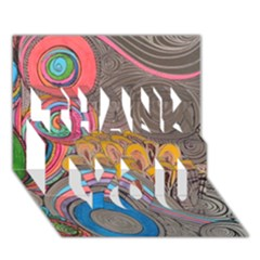 Rainbow Passion Thank You 3d Greeting Card (7x5)