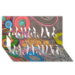 Rainbow Passion Congrats Graduate 3d Greeting Card (8x4)  by SugaPlumsEmporium