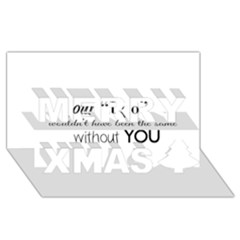 Wedding Favor/thank You Merry Xmas 3d Greeting Card (8x4)