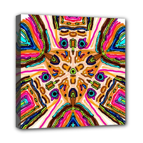 Ethnic You Collecition Mini Canvas 8  X 8  by SugaPlumsEmporium