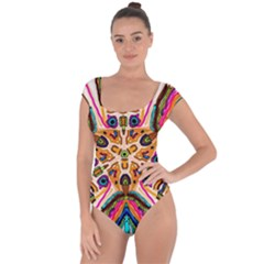 Ethnic You Collecition Short Sleeve Leotard (ladies)