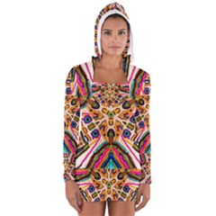 Ethnic You Collecition Women s Long Sleeve Hooded T Shirt by SugaPlumsEmporium