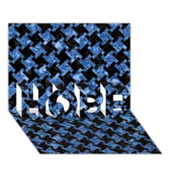 Houndstooth2 Black Marble & Blue Marble Hope 3d Greeting Card (7x5) by trendistuff