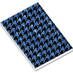 Houndstooth1 Black Marble & Blue Marble Large Memo Pads by trendistuff