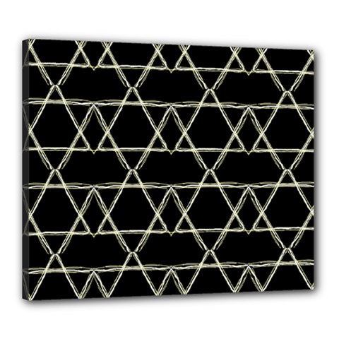 Star Of David   Canvas 24  X 20  by SugaPlumsEmporium