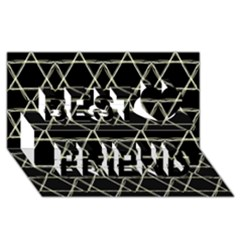 Star Of David   Best Friends 3d Greeting Card (8x4)  by SugaPlumsEmporium
