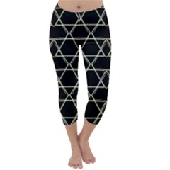 Star Of David   Capri Winter Leggings  by SugaPlumsEmporium